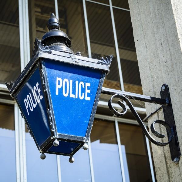 photo of a police lantern